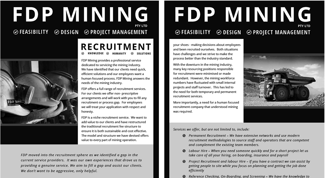 FDP Recruitment Brochure both pages - mono