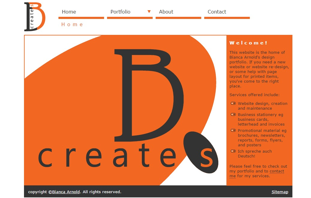 B creates web site Version 2