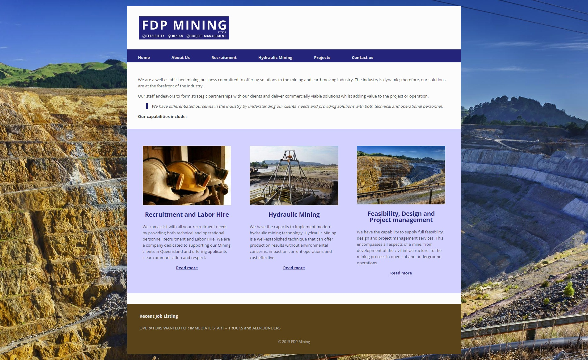 FDP Mining Website