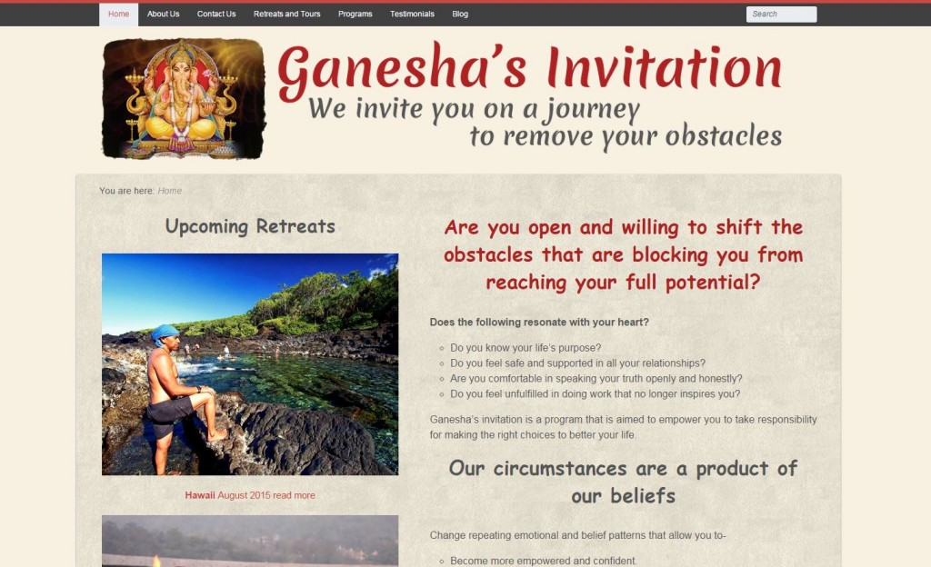 Web cap - Ganesha's Invitation