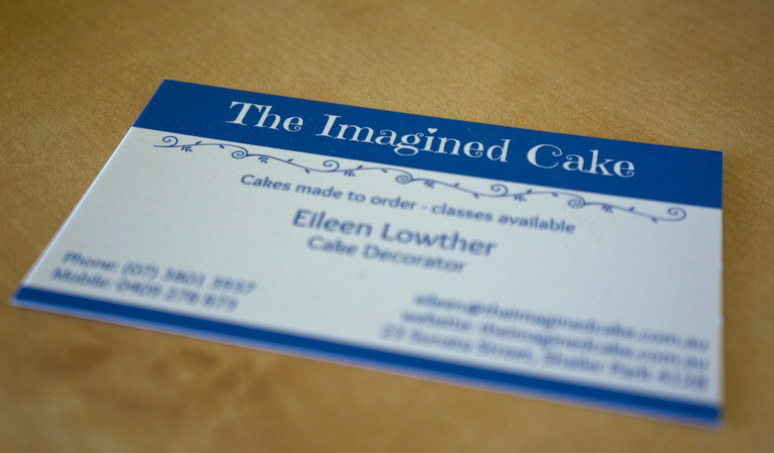 The Imagined Cake business card